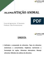 Alimentação Animal_Aula 0_Plano de Ensino