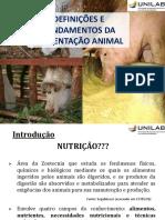 Alimentação Animal_Aula 01_Fundamentos da Nutrição