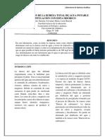 8. DETERMINACIÓN DE LA DUREZA TOTAL DE AGUA POTABLE POR TITULACIÓN CON EDTA DISÓDICO
