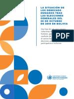 Informe de la Oficina de Derechos Humanos de las Naciones Unidas