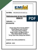PREPARACION DEL MATERIAL PAARA ENSAYO
