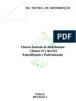 NTD12 - adronização e Especificação de Chaves Fusíveis de Distribuição - Classes 15 e 36,2 kV - R