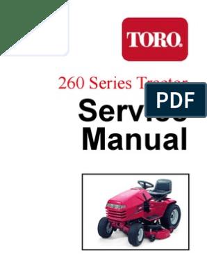 toro wheelhorse 260 series service manual nut (hardware