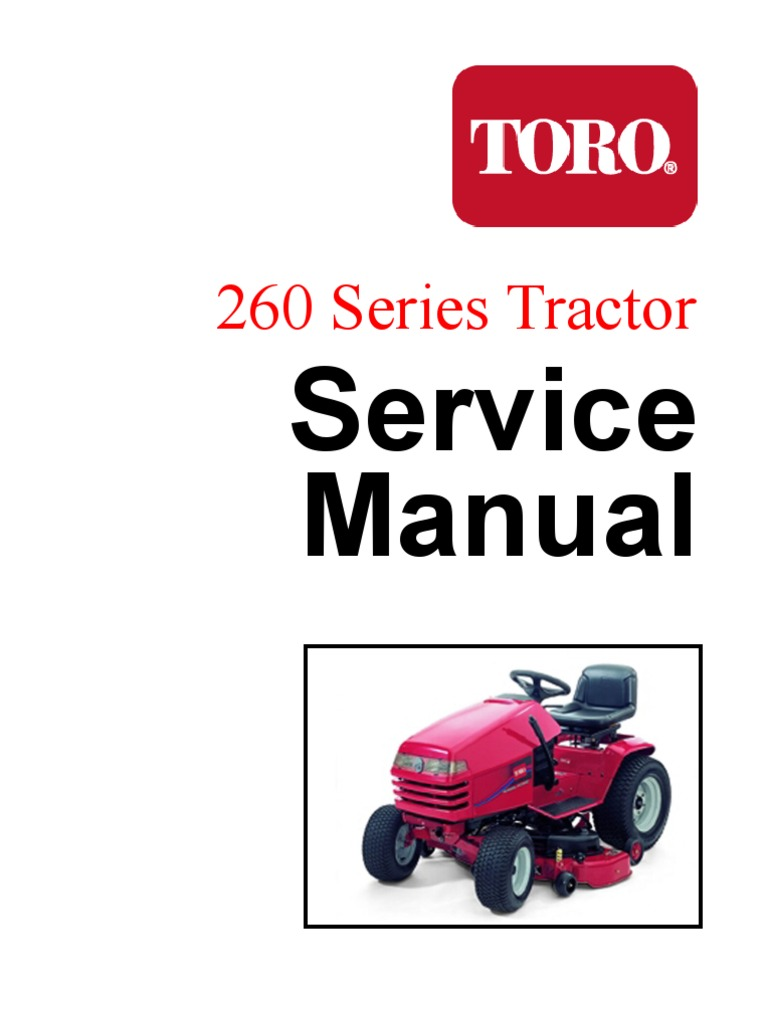 toro wheelhorse 260 series service manual screw nut (hardware) toro lawn mower engine diagram toro 269 wiring diagram #12
