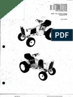 Case Garden Tractors, Case 444 446 448 Service Manual