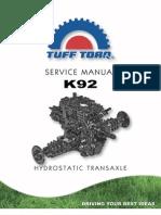 Tuff-Torq k92 Service Manual