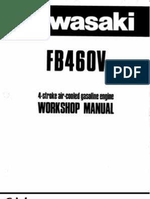 Kawasaki Fb460v Service Manual