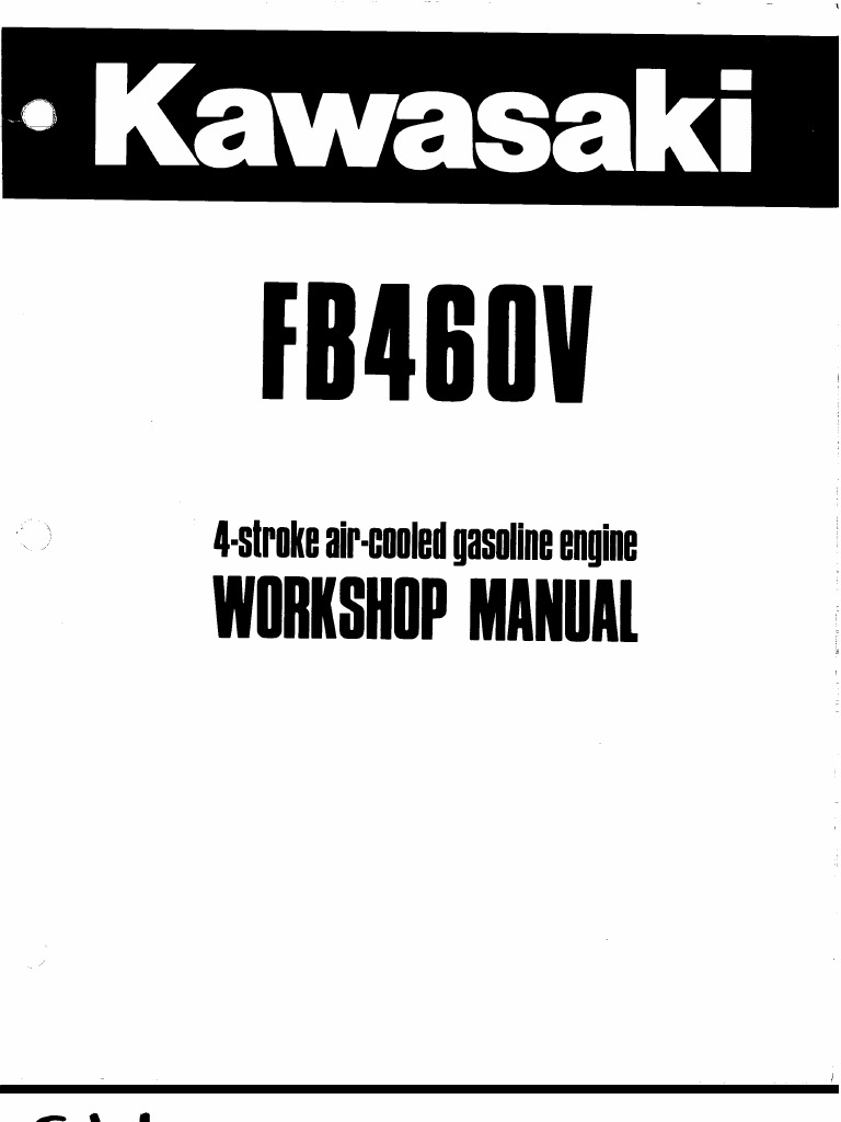 Kawasaki FB460V service Manual