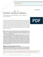 Scientists' warning on affluence