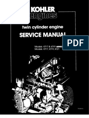 Kohler Kt17 Kt19 series ii Service Manual on kohler ignition wiring, kohler valve, kohler compressor,