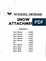 wheelHorse Snow Attachments Manuals