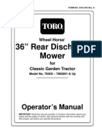 Toro WheelHorse 36 Inch Rear Discharge Mower Owners Manual