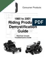 Toro wheelhorse Demystification Electical wiring diagrams for all WheelHorse tractors