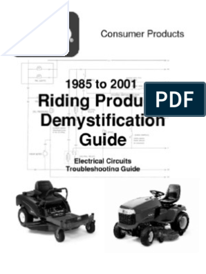Toro Wheelhorse Demystification Electical Wiring Diagrams For All  WheelHorse Tractors | Alternating Current | Inductor | Relay Wiring Diagram Toro |  | Scribd