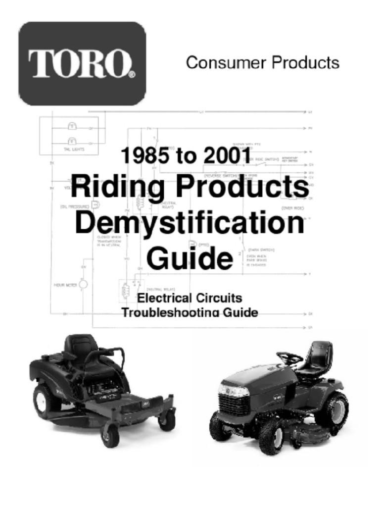 toro wheelhorse demystification electical wiring diagrams for all rh scribd com toro lawn mower wiring diagram toro lawn mower wiring diagram