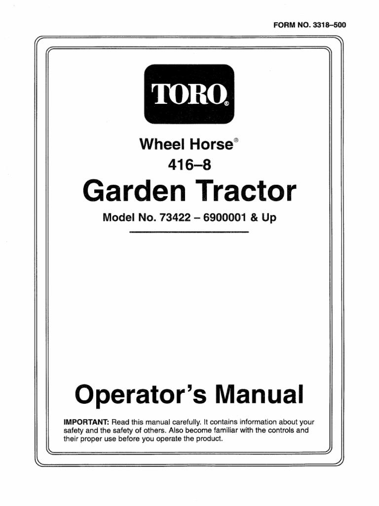 wheelhorse wiring diagram toro wheel horse 416 8 operators manual agriculture business  toro wheel horse 416 8 operators manual