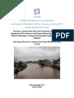 Identificación Proyecto Protección margen izquierda del río Masacre, Municipio Cañongo, Dajabón