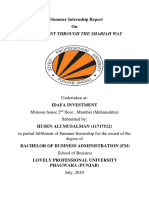 cover page of summer report