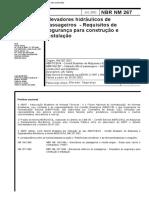 NBR NM 267 - 2002 - Elevadores Hidraulicos De Passageiros - Requisitos De Seguranca Para Construc.pdf