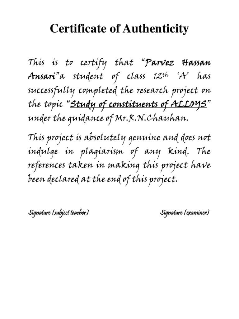 Sample certificate for school project hatchurbanskript sample certificate yelopaper Choice Image