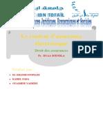 contrat d'assurance éléctronique