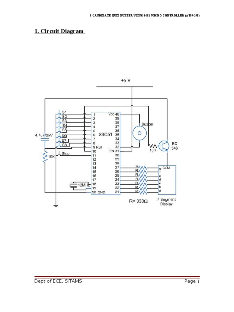 8 candidate quiz buzzer using 8051 rectifier transistor pooptronica Gallery