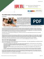 The VARK Model of Teaching Strategies