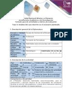 Guía de actividades y rúbrica de evaluación - Fase 3 Análisis de caso descrito en el escenario planteado