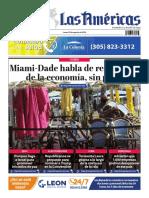 DIARIO LAS AMÉRICAS Portada digital del lunes 24 de agosto de 2020