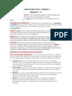 APUNTES DE REACTIVOS 11 SEMANA 12