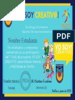 Plantilla diploma Yo Soy Creativo ultimo