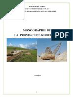 Monographie de la province  de Khouribga(1)