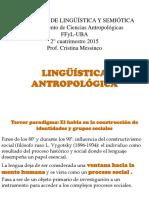 LINGÜISTICA ANTROPOLÓGICA Tercer paradigama 2016
