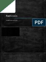 radicals cont