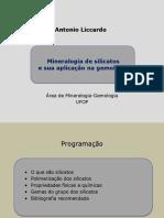 Antonio Liccardo Mineralogia de silicatos e sua aplicação na gemologia