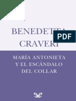 CRAVERI. Maria Antonieta y el escandalo del collar