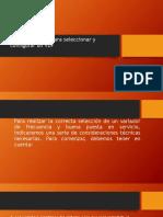 Consideraciones para seleccionar y configurar un VDF
