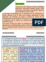 CONSTRUCCIONES I Patologías en Edificaciones