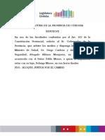 Pedido de renuncia de Diego Cardozo y Alfonso Mosquera
