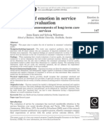 The role of emotion in service evaluation