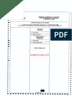 Madison Sample Ballots Districts 1-7