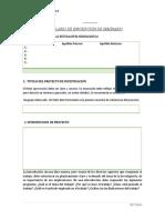 FORMULARIO DE INSCRIPCIÓN DE ANTEPROYECTO ED PARVULARIA