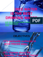 Drinking Filtered Water vs Mineral Water