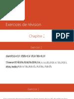 Exercices de révision CHAP 2