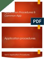 application procedures   common app