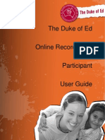 DofE Participant User Guide