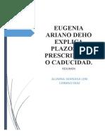 RESUMEN - EUGENIA ARIANO DEHO EXPLICA PLAZOS DE PRESCRIPCIÓN O CADUCIDAD.docx
