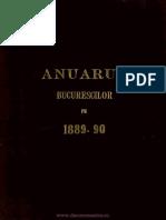 Anuar Bucuresti 1889