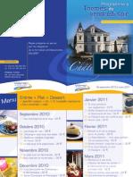 Valarep Château Fortier Menus 2010-2011