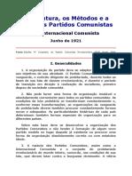 A Estrutura, Métodos e Ação dos Partidos Comunistas